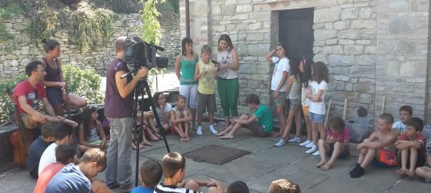 campo natura per bambini e ragazzi - registrazione del video e delle interviste